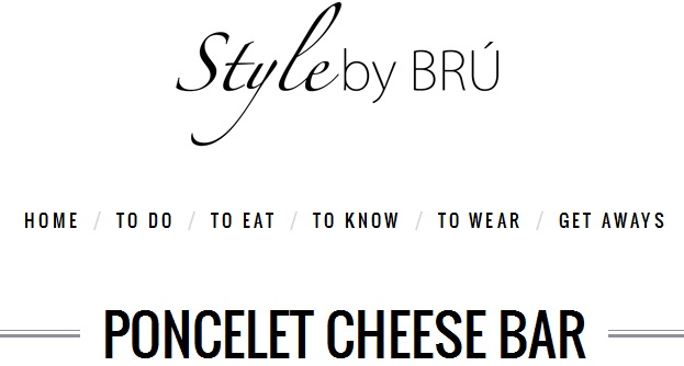 Poncelet Cheese Bar en Style by BRU